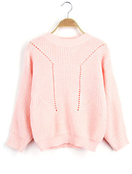 Women's Fashion Casual Hollow Out Wool Cashmere Pullover Knit Sweater