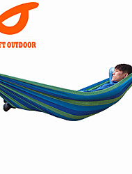 SWIFT Outdoor Brand Hot Sale1 Person 280Lx100Wcm 120kgs 100% Colorful Cotton Single Canvas Hammock With Cloth Bag