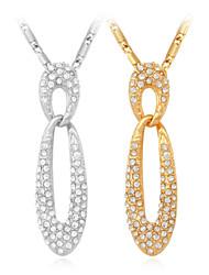 Vogue Luxury Pendant 18K Gold Platinum Plated SWA Rhinestone Crystal Jewelry for Women High Quality