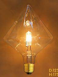 E27 15W  G125 Diamond Halogen Bulb Decorative Creative Edison Bulb Halogen Light Source