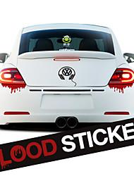 sangue mancha de sangue horrível cai para luz da cauda adesivo de carro styling adesivo de vinil auto reflexivo decoração remontagem