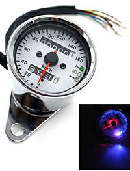 Universal Motorcycle Dual Odometer Speedometer Gauge Test Miles Speed meter