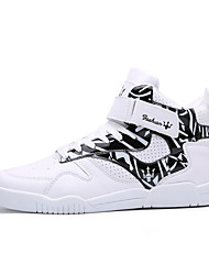 Running Shoes Men's Shoes Casual/Travel Microfibre Leather Fashion Sneakers High-top Board Shoes Black/White 39-44