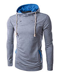 Men's High-Neck / Tailored Collar Sweats & Hoodies , Cotton / Cotton Blend Long Sleeve Casual Fashion Spring / Fall TNCY