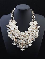 European Style Fashion Exaggerated Flower Bead Necklace