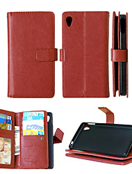 PU Leather+TPU Back Cover Wallet Much Card Holders+Cash Slot+Photo Frame Magnetic Phone Case for Sony Xperia M4 Aqua