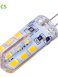 4W G4 LED à Double Broches T 24 SMD 2835 400 lm Blanc Chaud / Blanc Froid Décorative AC 12 V 5 pièces