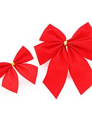 Natale farfalla rossa legame di arco 1 sacchetto