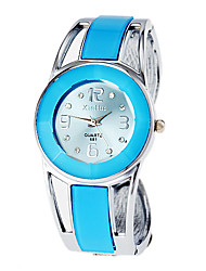 Women's Watch Bracelet Watch Blue Round Dial Cool Watches Unique Watches Fashion Watch