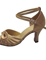 Chaussures de danse(Autre) -Personnalisables-Talon Personnalisé-Satin-Latine Salsa