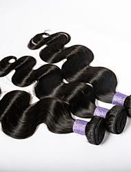 navidad venta 3bundles malasio cuerpo virginal del pelo de la onda 7a extensión del pelo humano / porción larga duración maraña pelo