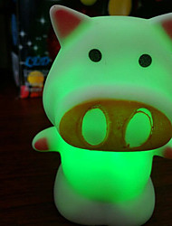 6.5*6.5*8.5CM Christmas Colorful And Lovely Cartoon Pig Small Night Light Happiness Light LED Lamp