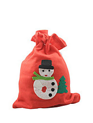 1Pcs 2015 Selling Christmas Big Applique Gift Bag(Random Color)
