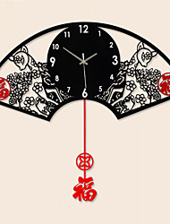 Creative Fashion Sector Metal Mute Wall Clock