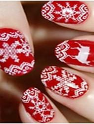 12PCS Christmas 3D Luminous Nail Stickers 13x6.5cm