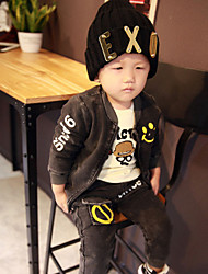 Boy's  Velvet Clothing Set  , Spring / Fall  Knitting  Cowboy Five-Pointed Star Leisure Sport Suit