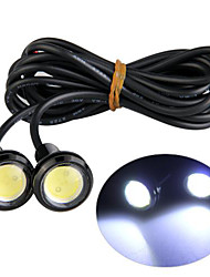 4 piezas ojo de águila llevado cola inversa de vista trasera de la lámpara de luz 3w 12v