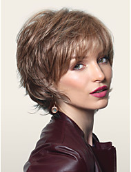 Beautiful  Brown Syntheic  Wigs  Sale To Europe And America