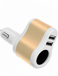 2 USB Ports Multi Ports Other Car Charger Charger Only For iPad / For Cellphone5V , 1A / 2.1A)