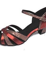 Sapatos de Dança ( Castanho ) - Mulheres - Customizáveis - Latim / Salsa