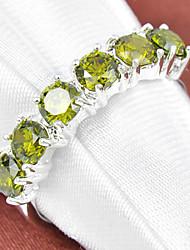 Ringe Imitation Diamant Geometrische Form Hochzeit / Party / Alltag / Normal / Sport Schmuck versilbert Damen Statementringe 1 Stück,7 /