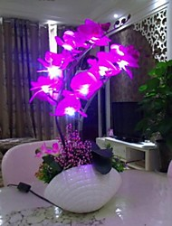 Cherish Rose ® Originality Handmade Moth Orchid Flower Led Light Desk Lamp Air Cleaner Hotel Bedroom Furniture