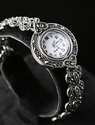 Women's Vintage style noble and elegant plating alloy inlaid crystal electronic watch