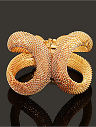 Pulseiras Punhos Dourado / Prateada Sem Pedra Mulheres