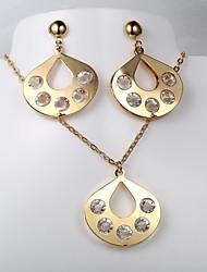 Europeus e americanos moda nova queda de 5 colar de diamantes brincos de terno