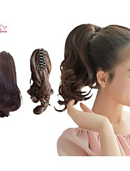 Smilco Claw Clip Ponytail Curly Hair Ponytail Extensions Ponytail Hairpieces Claw Clip Ponytail Hair Extensions