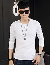 Qiu dong season han edition trend of men's long sleeve render men long sleeve T-shirt unlined upper garment