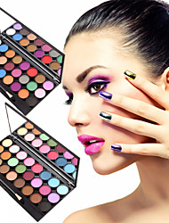 24 Colors Natural Matte Eyeshadow Palette Matt Make-up Set with Eye Shadow Brush(Assorted Color)