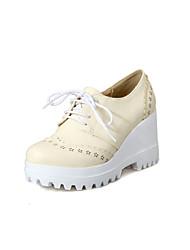 Chaussures Femme - Habillé - Bleu / Rose / Violet / Beige - Talon Compensé - Talons / A Plateau / Bout Arrondi - Talons - Similicuir