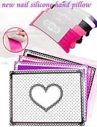 1set abc acrílico de silicona cojín almohada mano con la limpieza desmontable de alto grado de almohada manicura mano opciones 5 colores