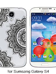 Para Samsung Galaxy Capinhas Transparente / Estampada Capinha Capa Traseira Capinha Mandala TPU Samsung S6 / S5 / S4
