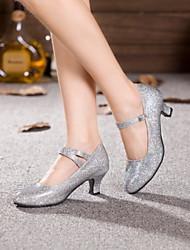 Non Customizable Women's Dance Shoes Leather / Patent Leather Leather / Patent Leather Modern Heels Cuban HeelPractice / Beginner /