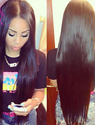 "8""-24""Peruvian Virgin Hair Bleached Knots Silky Straight Glueless Full lace Human Hair Wigs For Black Women"