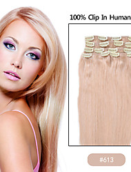 Clip in Remy Real Human Hair Extensions Straight hair 24 colors for Choose Beauty Hair Style 001