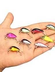 Lot 8pcs Minnow Crank Bait Fishing Lures Mini Bronzing Fishing Lures CrankBait Floating Rattles 2.8cm 1.1inch 1.7g