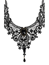 Necklace Choker Necklaces Jewelry Wedding / Party / Daily / Casual Fashion Lace Black 1pc Gift