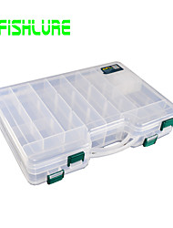 Afishlure Double Open Double Side Portable Case Fishing Tackle Boxes Lure Box 1 Tray 29cm * 21cm * 6cm Hard Plastic
