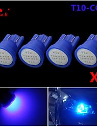 haute puissance 4 x torchis bleue t10 194 168 LED 12V ampoules instrument de bord