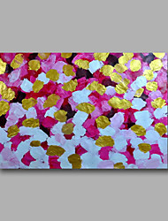 "Ready to hang Stretched Hand-Painted Oil Painting 36""x24"" on Canvas Wall Art Abstract Heavy Oils Pink Glolden"