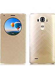 Pour Coque LG Avec Ouverture Coque Coque Intégrale Coque Forme Géométrique Dur Cuir PU pour LG LG G4