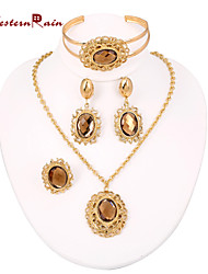 WesternRain Wedding Perfume necklace suit For women jewelry sets