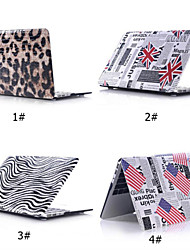 "Case for Macbook 13"" Macbook Air 11""/13"" Cartoon PU Leather Material Pattern PU Leather Case+Matt Bottom Cover Shell"