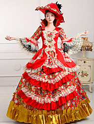 Steampunk®Georgian Red Gothic Victorian Party Ball Gown Marie Antoinette Wholesalelolita Rococo Prom Dresses