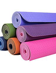 TPE Yoga Mats 183*80*0.8 Non Toxic 8.0 Azul / Verde / Laranja / Roxa #