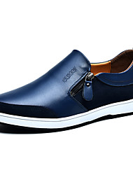 Men's Shoes Casual Leather Loafers / Slip-on Black / Blue / Brown