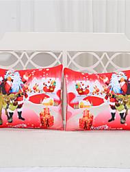 Christmas Party Pillow Case Red Home Textiles Printed Cozy Bedclothes Super Soft Body Pillowcase a Pair 50cmx75cm